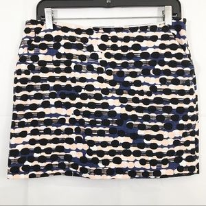 Diane Von Furstenberg Nelly Tweed Mini Skirt Lined